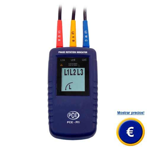 Más información acerca del medidor de rotación de fase PCE-PI1