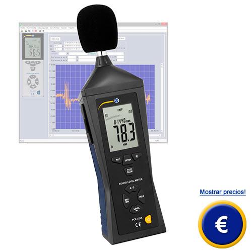 Más información acerca del medidor de sonido PCE-322A con software y memoria.