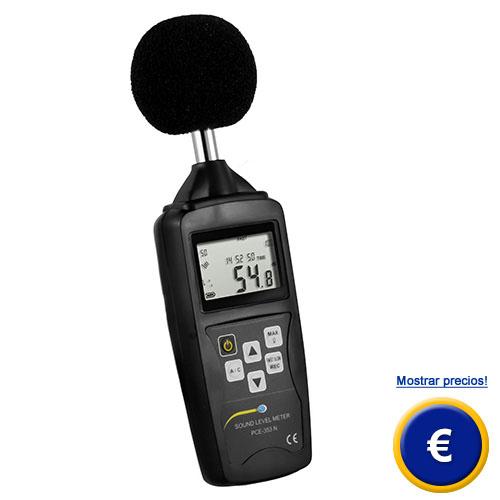 Medidor de sonido PCE-353N con memoria de datos y función LEQ.