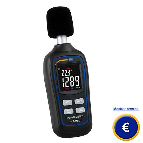 Más información sobre el medidor de sonido PCE-MSL 1