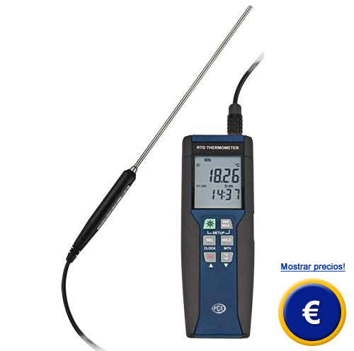 Medidor de temperatura pce hpt 1 for Medidor de temperatura y humedad digital