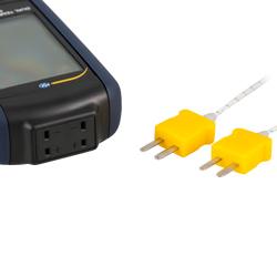Los termoelementos se conectan fácilmente al termómetro.