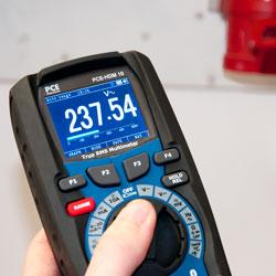 Pantalla del milivoltímetro digital PCE-HDM 10
