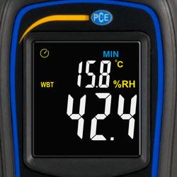 La pantalla del termohigrómetro mini es brillante y nítida