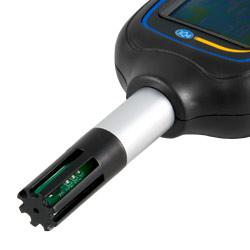El termohigrometro mini tiene un sensor preciso que permite realizar una medición rápida