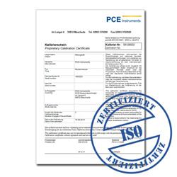 Certificado de calibración opcional para el muestreador de aire PCE-AS 1