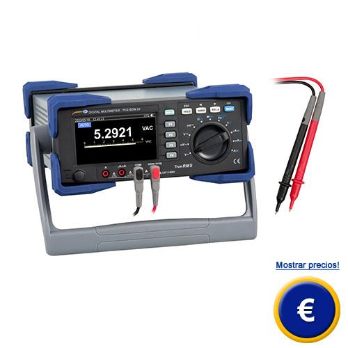 Más información acerca del multímetro digital PCE-BDM 20