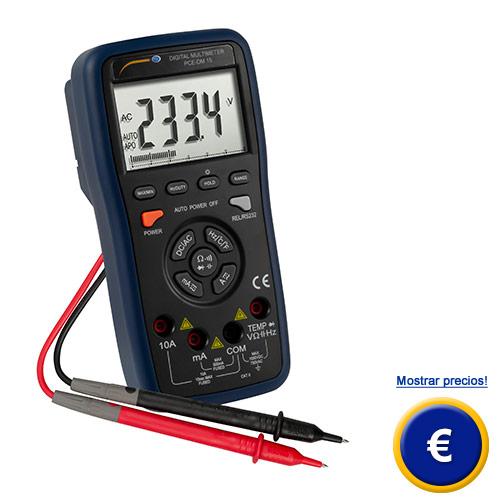 Más información sobre el multímetro digital PCE-DM 15