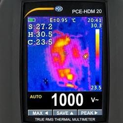 Imagen térmica obtenida con el multímetro digital