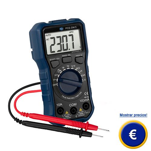 Más información sobre el multímetro PCE-DM 5