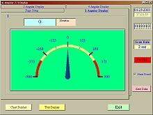 Representación analógica del software del penetrómetro.