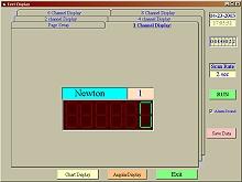 Representación digital del software del penetrómetro.