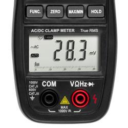 Pantalla de la pinza amperimétrica AC/DC PCE-DC 20