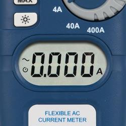 Pantalla de la pinza amperimétrica flexible PCE-CM 4