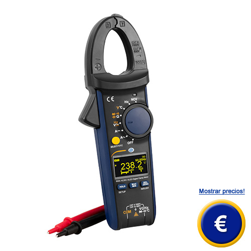Más información acerca de la pinza amperimétrica PCE-OCM 40