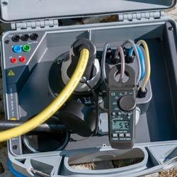 Ejemplo de uso de la pinza de corriente EVSE PCE-DC 9EV