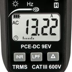 Pantalla del pinza de corriente EVSE PCE-DC 9EV