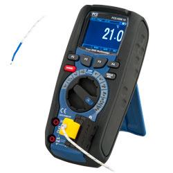 Medición de temperatura del polímetro digital