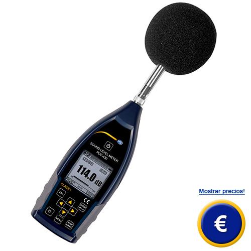 Más información sobre el sonómetro profesional PCE-430