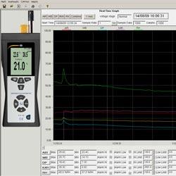Imagen del software del psicrometro PCE-320