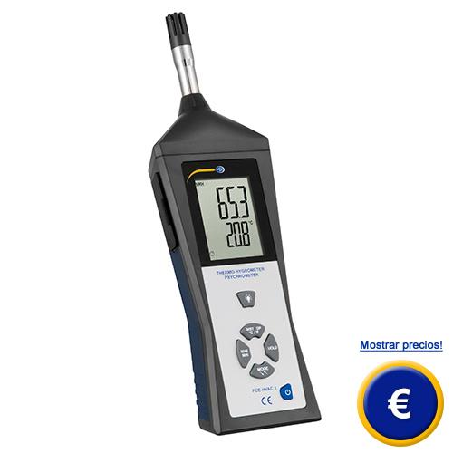 Más informción sobre el psicrómetro PCE-HVAC 3