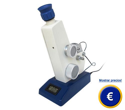Más información acerca del refractómetros ABBE AR4 con iluminación de prismas y termómetro