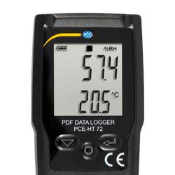 Pantalla del registrador de temperatura y humedad pdf