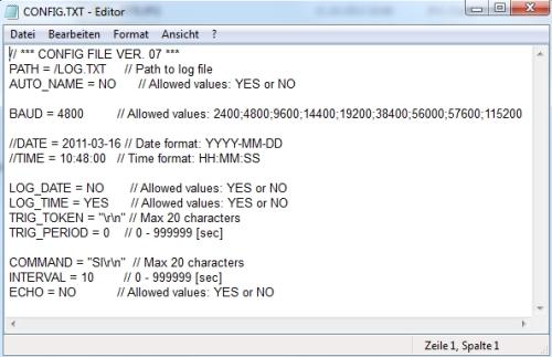 Aquí ve el software del registrador de datos GSM que se incluye en el envío.