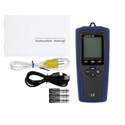 Contenido de envío del registrador de temperatura PCE-T 330