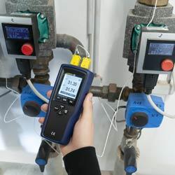 Controlo de un sistema de calefacción con el registrador de temperatura PCE-T 330