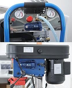 Aquí ve el registrador de vibración en varias máquinas para el control y análisis de la maquinaria