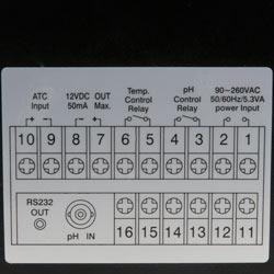 Imagen de conexión del regulador de pH