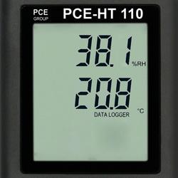 Registrador de datos de temperatura y humedad con pantalla