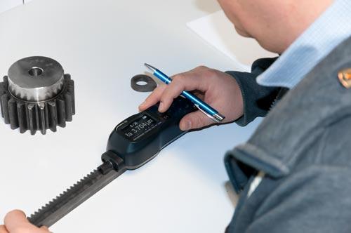 Una medición realizada con el rugosímetro PCE-RT 1200.
