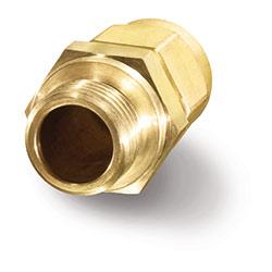 Atornilladura de paso de latón para sensor de caudal universal