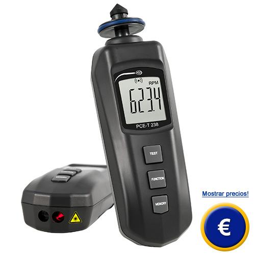 Más información sobre el tacómetro de mano PCE-T238