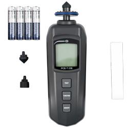 Contenido de envío del tacómetro PCE-T 238