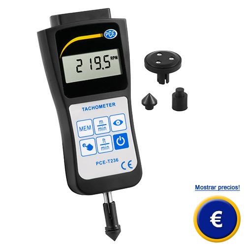 Más información sobre el tacómetro de mano PCE-T236 - PCE-T237