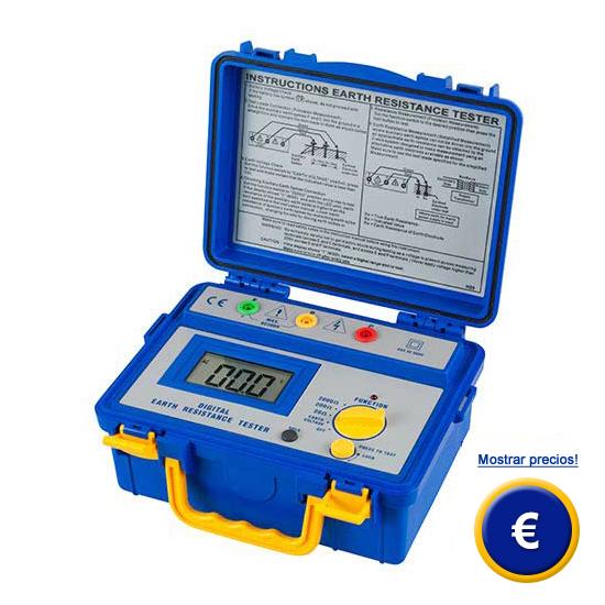 Más información acerca del telurometro digital PCE-ERT 20