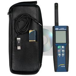 Contenido del envío del termohigrómetro de precisión PCE-330