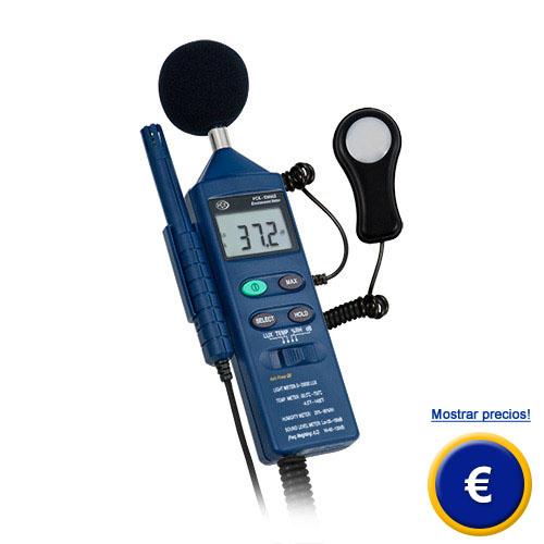 Termohigrómetro de medio ambiente para formación, aprendizaje y mediciones orientativas
