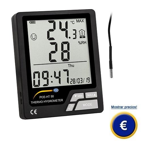 Más información sobre el termohigrómetro PCE-HT 50.