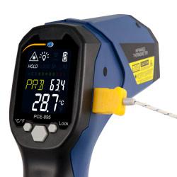 Conexión para termopar tipo K del termómetro de doble rayo láser PCE-895