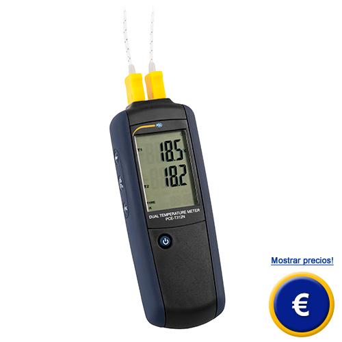 Más información acerca del termómetro de contacto de 2 canales