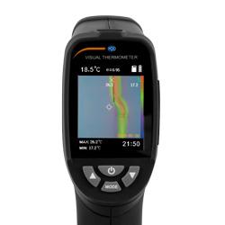 Pantalla del termómetro visual infrarrojo