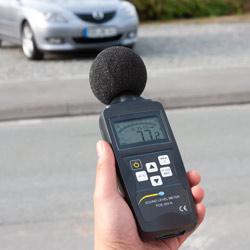 Uso del tester de ruido LEQ PCE-353N