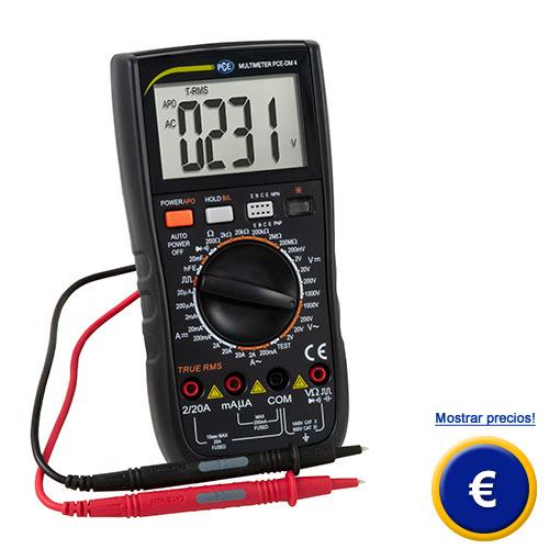 Más información sobre el multímetro digital TRMS DMM PCE-DM 4