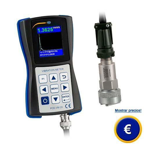 Más información acerca del vibrómetro PCE-VM 20 para determinar el estado de las máquinas.