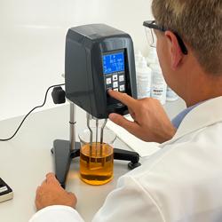 Ejemplo de uso del viscosímetro rotacional PCE-RVI 2