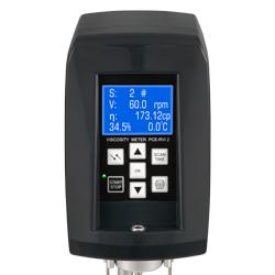 Pantalla con panel de mando del viscosímetro rotacional PCE-RVI 2